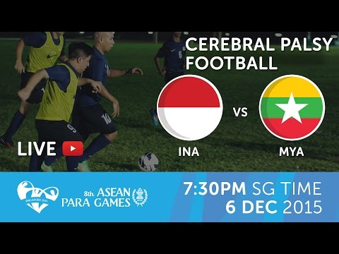Cerebral Palsy football Indonesia vs Myanmar (Day 3) | 8th ASEAN Para Games 2015