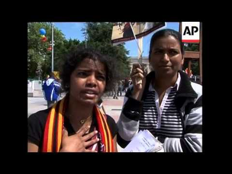 Tamils protest outside EU in Belgium, UN in Switzerland