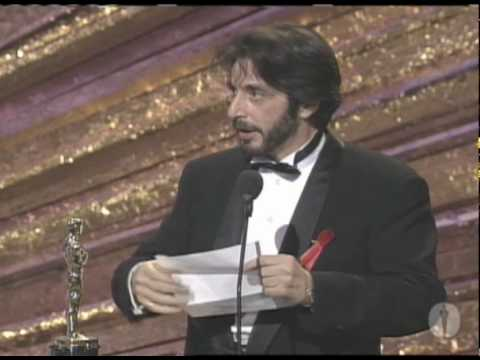 Al Pacino winning Best Actor for 
