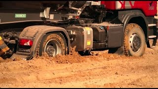 SCANIA Off-road Test Tour 2015 - tippers in action