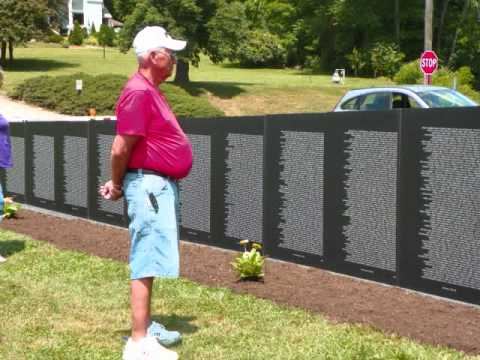 Vietnam Veteran's Traveling Wall visiting McConnelsville, Ohio.
