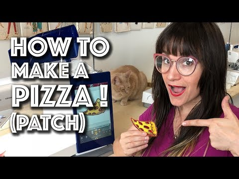 How To Embroider A Pizza Patch on The Viking Designer Epic! | Sew Anastasia