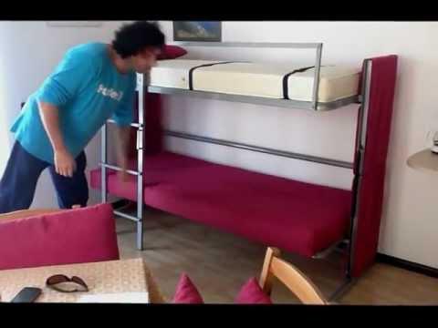 Arredamento casa vacanze Malcesine divano trasformabile