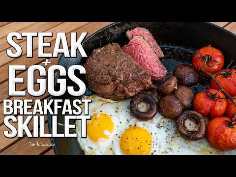 Steak and Eggs Breakfast Skillet  SAM THE COOKING GUY 4K