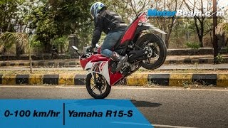Yamaha R15-S 0-100 km/hr & Top Speed | MotorBeam