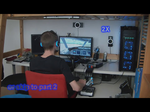 My PC Flight Simulator setup Demo Flight 1 Part 1 - Boeing 737 [HD 720p]