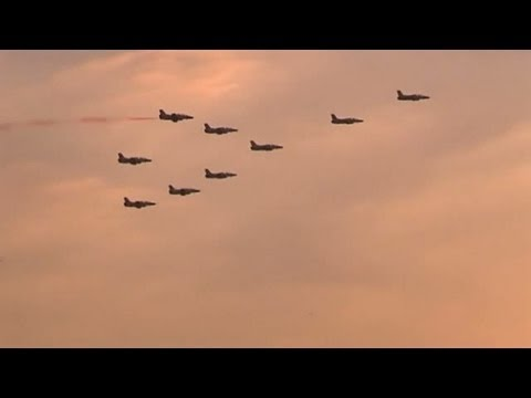 Egyptian air force stages fly-past over Cairo as Adly Mansour becomes interim president