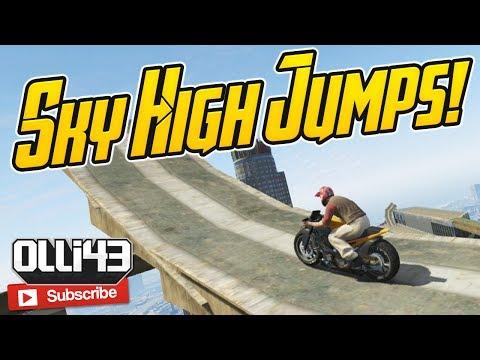 GTA 5 Online: Sky High Jumps! (GTA 5 Custom Job Showcase)