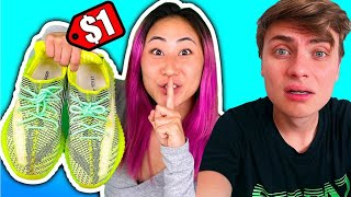 I SOLD HIS YEEZY'S FOR $1!!