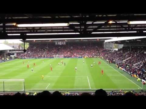 Fulham FC 1-3 Liverpool FC | You'll Never Walk Alone @ Craven Cottage