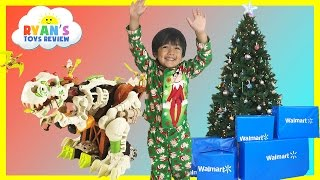 SURPRISE TOYS OPENING CHRISTMAS PRESENTS WALMART! Top Toys Chosen by Kids