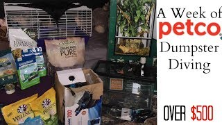 I went Dumpster Diving at Petco for ONE Week! $500 in Finds
