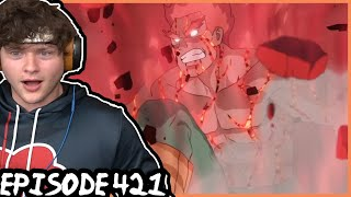 NIGHT GUY VS MADARA! || Naruto Shippuden REACTION: Episode 421