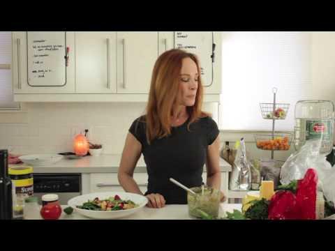 Raw vegan salad and dressing EASY RECIPE – Dara Dubinet