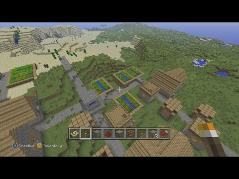 Seed Spotlight #58 - 3 Dungeons, Village, Stronghold, Mineshaft at Spawn - Minecraft TU13/PS3