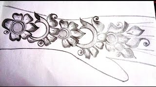 simple henna designs on paper. how to pencil draw new mehndi design on paper k47 simple henna designs