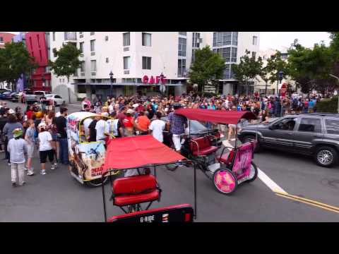 New angle of car plowing through zombie walk pedestrians at comic con ( what really happened )
