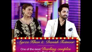 "Meet ""One of the most Darling Couples of TV industry"" Ayeza & Danish this weekend in #UmarSharifShow"