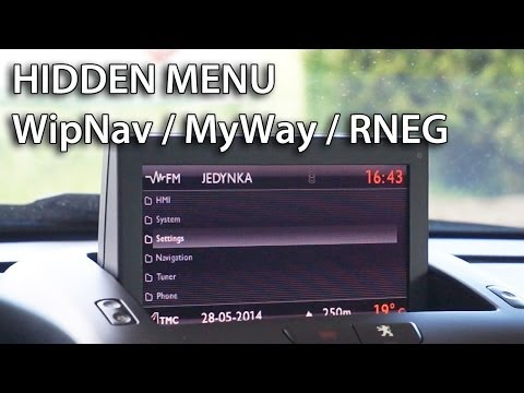 How to get WipNav/MyWay/RNEG navigation hidden menu in Citroën Peugeot Lancia Fiat (DS3 C5 207 308)