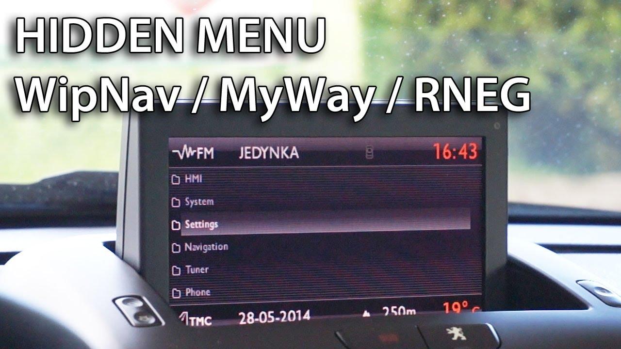 How To Get Wipnav Myway Rneg Navigation Hidden Menu In