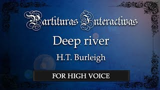 Deep river - H. T. Burleigh (Karaoke - Original Key: F major)