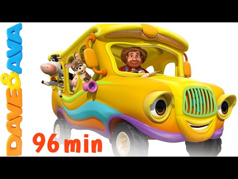 The Wheels on the Bus - Animal Sounds Song   Nursery Rhymes Compilation from Dave and Ava