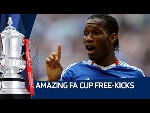 AMAZING FA CUP FREE-KICKS! Featuring Gazza, Drogba, Baines, Pearce, Oscar and more