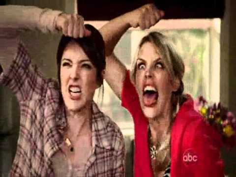 Cougar Town: Laurie & Ellie monster mask