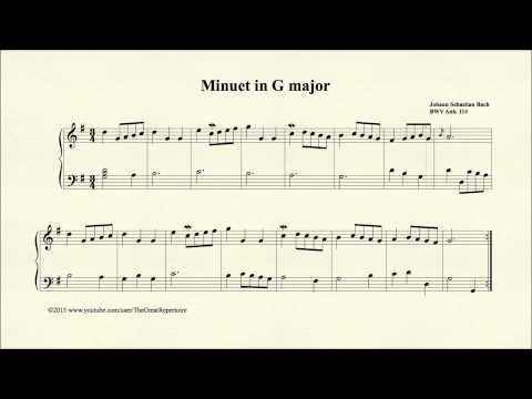 Бах Иоганн Себастьян - Menuet In G Major