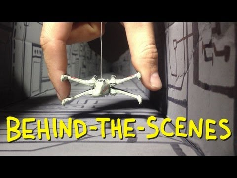 "Star Wars - ""Death Star Trench Run"" - Homemade with Chris Hardwick (Behind The Scenes)"