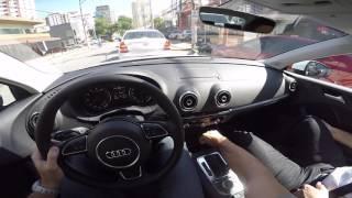Audi A3 Sedan 2.0 TURBO DSG Test Drive Onboar POV GoPro + Comentários