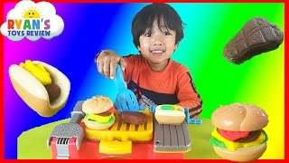 Play Doh Cookout Creations  make Hotdogs Hamburgers and Chicken