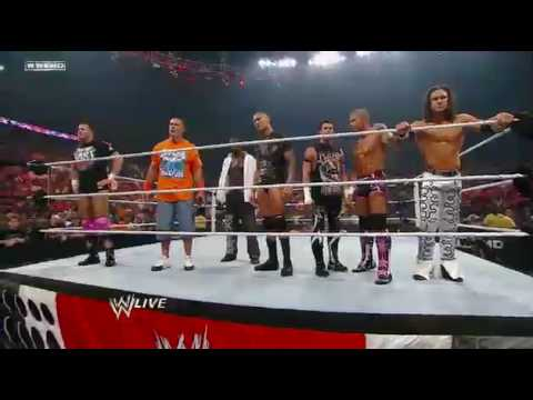 Wwe John Cena And Raw Superstars Target The Nexus And Ends In Battling With Themselves *hd* video