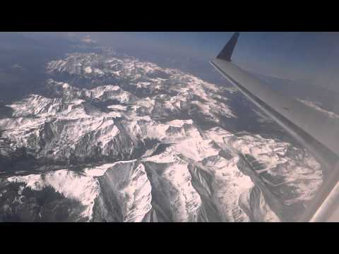 The Colorado Rockies From 35,000 Feet!