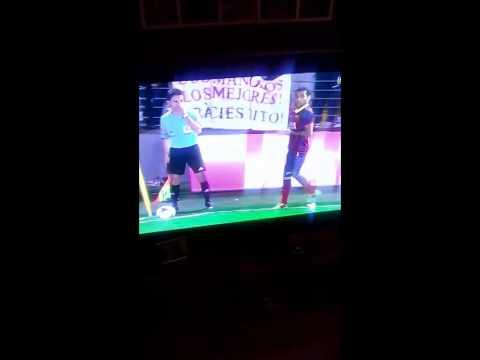 Dani Alves Reacts to a Villarreal fan throwing a Banana at him