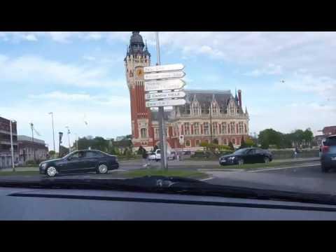 Calais, Cité Europe to Ferry Port Time Lapse