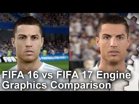 FIFA 16 vs FIFA 17 Engine Technology Graphics Comparison