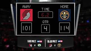 Trail Blazers @ Nuggets LIVE Scoreboard - Join the conversation & catch all the action on #NBAonTNT!