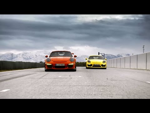 Porsche 911 GT3 RS and Cayman GT4