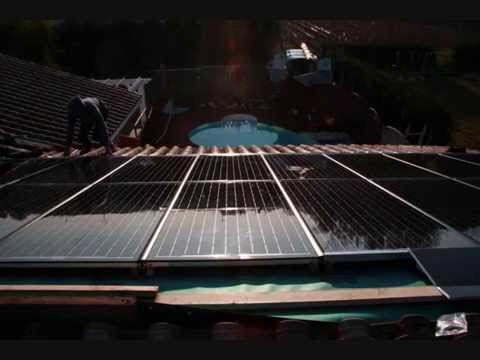 Pose d'une installation de panneaux solaires en gironde près de Bordeaux