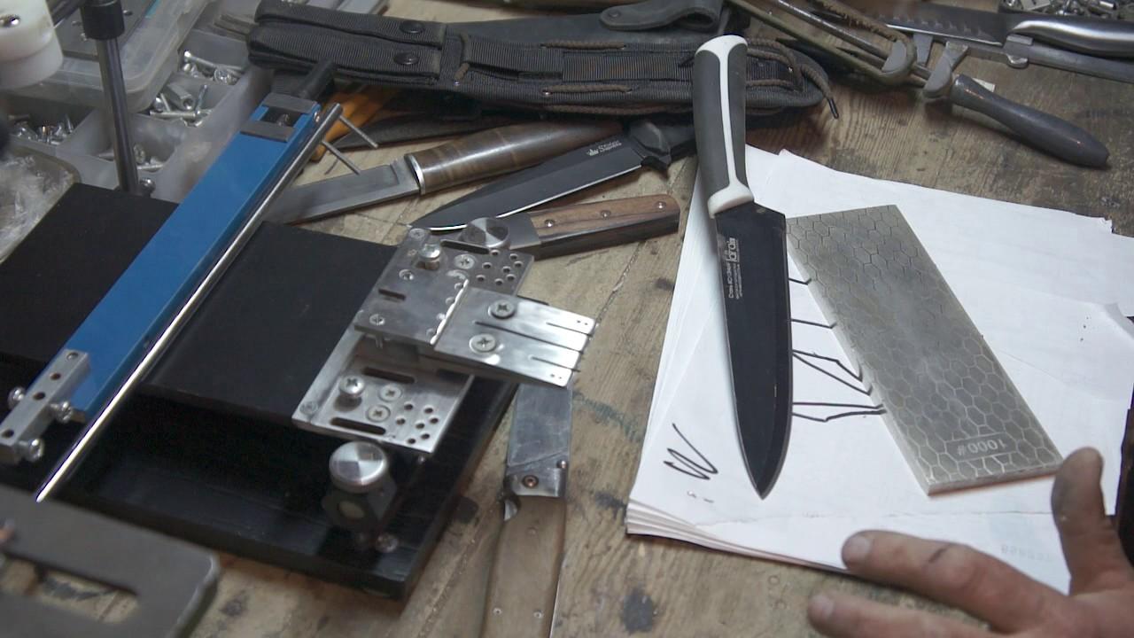 Заточка ножа бруском своими руками