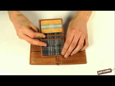 Fossil Harris Passcase Wallet - Removable Pouch Section