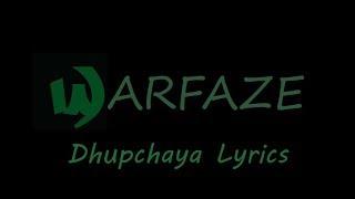 Warfaze - Dhupchaya Lyrics