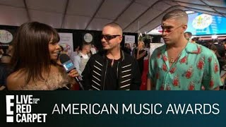 J Balvin Bad Bunny Talk Teaming Up With Cardi B E Red Carpet Live Events
