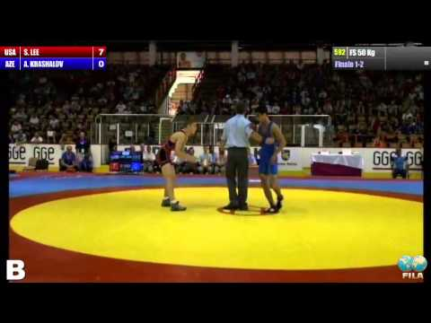 Finale 1-2 Freestyle 50 Kg (USA) Spencer LEE vs (AZE) Afgan KHASHALOV
