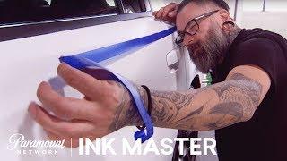 'Dodge Challenger Sharpie Car' Flash Challenge Preview | Ink Master: Season 8