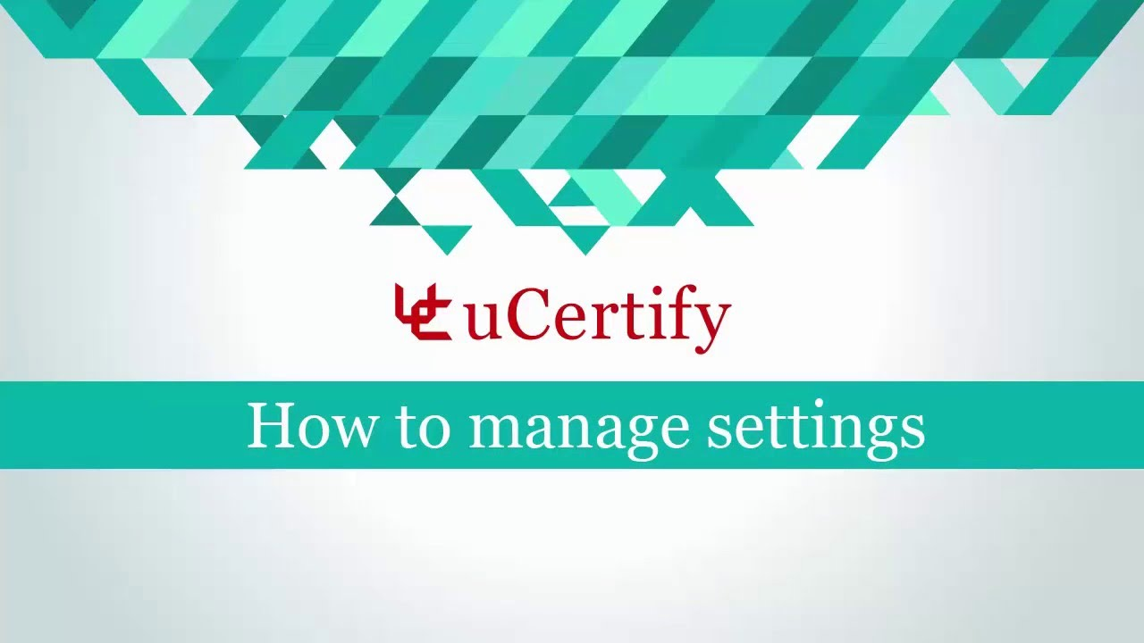 How to manage settings