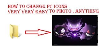 how to change icon in p.c win xp,vista,7 ,8,8.1,10   part 1