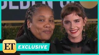 Emma Watson Brings Women's Activist Marai Larasi to 2018 Golden Globes (Exclusive)