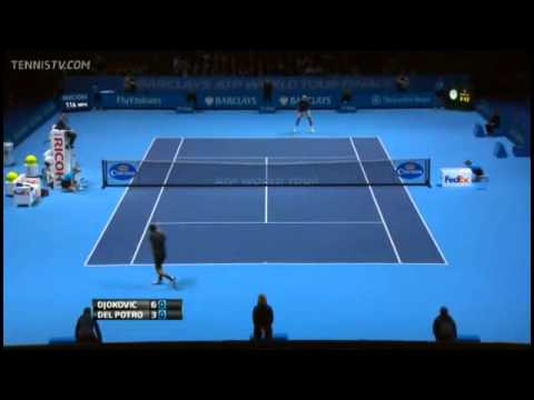 Novak Djokovic Vs Del Potro Barclays ATP World Tour Finals 2013 Group B Full Match